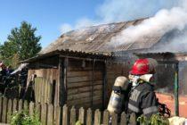 Bucătăria de vară a unei locuințe din Pâncești a luat foc din cauza unui scurtcircuit