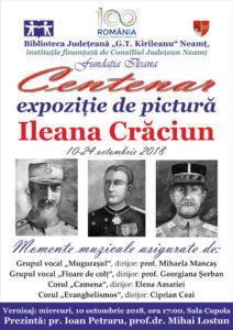 Afis expozitie Ileana Craciun
