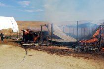 Incendiu la stână din comuna Gâdinţi