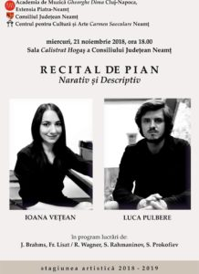 recital pianistic narativ si descriptiv