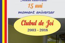 Clubul de Joi la Biblioteca Județeană – 15 ani de existență