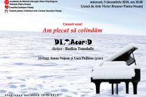 """Concert coral de colinde la Liceul """"Victor Brauner"""" din Piatra Neamț"""