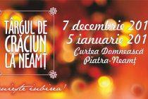 Vineri este spectacol folcloric la Târgul de Crăciun la Neamț