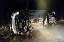 Un autoturism s-a răsturnat pe raza localității Brateș, com. Tarcău. Șoferul a decedat.