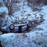 Accident masina rasturnata Dulcesti