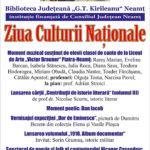 Afis_Ziua Culturii_Nationale_2019