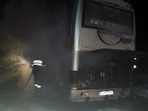 Incendiu roata autocar Trifesti