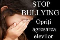 "Campanie de combatere a fenomenului ""bullying"""