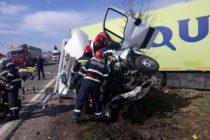 Accident cu victimă încarcerată în comuna Mircești, Iași