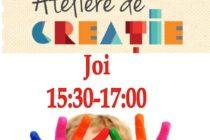 Ateliere de creație pentru copii la filiala Speranța al Bibliotecii Județene