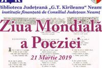 Manifestări la Biblioteca Județeană de Ziua Mondială a Poeziei