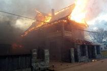 Incendiu puternic la o locuință din comuna Bodești