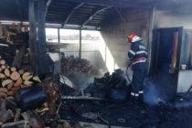 Incendiu provocat de scânteile de la un flex metalic