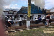 Incendiu puternic la o locuință din Rediu