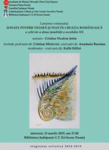 Lansare de carte sonata pentru vioara
