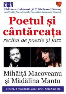 recital poezie si jazz Poetul si Cantareata