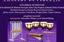 Concert de percuție organizat la Piatra Neamț și Roman