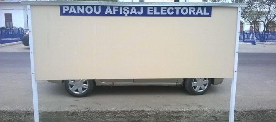 A fost stabilită ordinea pe panourile de afișaj electoral
