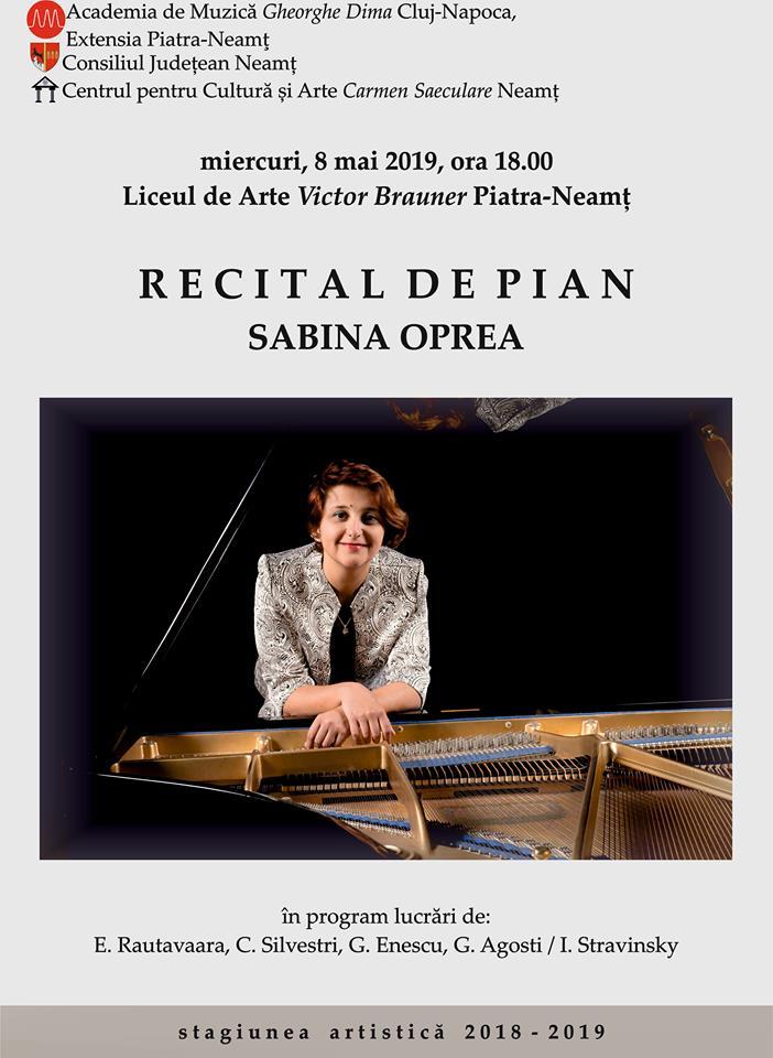 Recital de pian SABINA OPREA