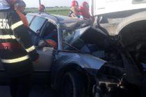 Accident rutier cu victimă încarcerată, în comuna Horia