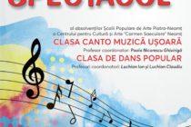 Spectacol de muzică și dans susținut de elevi la Consiliul Județean