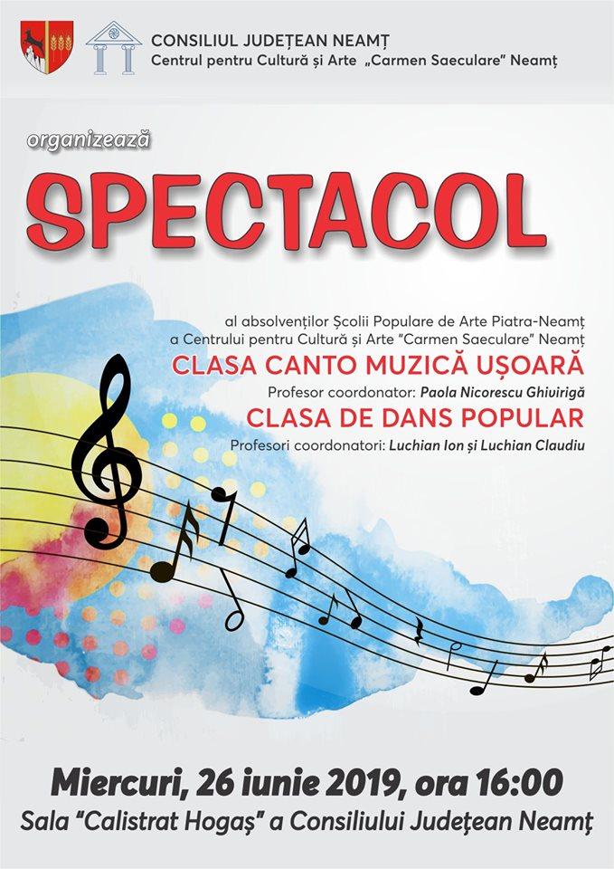 Spectacol muzică uşoară şi dans popular