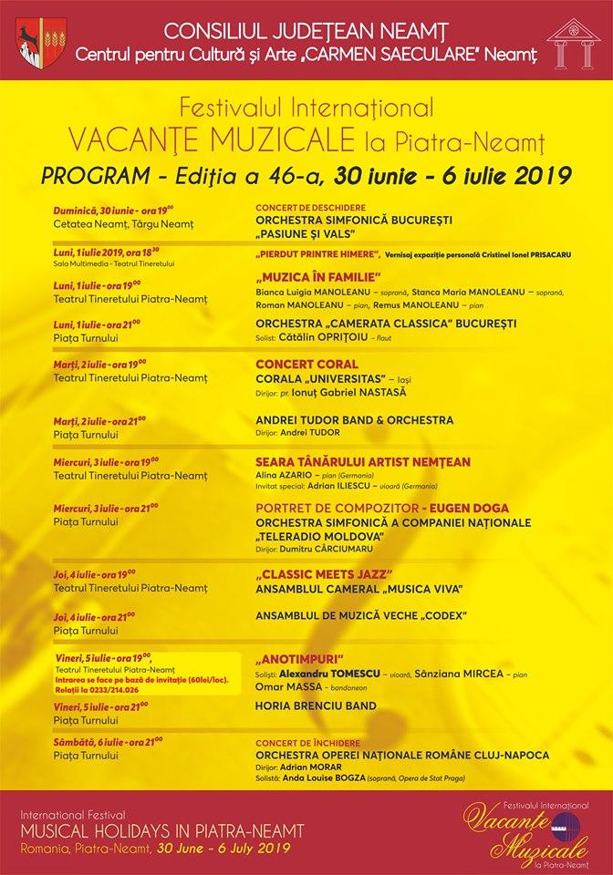 Program Vacante Muzicale 2019