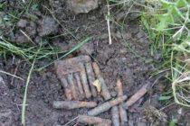 Muniție neexplodată descoperită în curtea unui cetățean din Boghicea