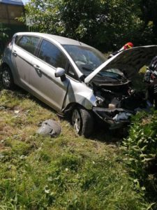 Accident rutier autoturism in gard Carligi