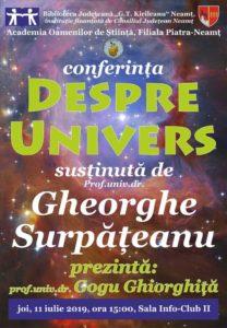 Conferinta Despre Univers