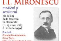 Conferință omagială dedicată scriitorului și medicului I. I. Mironescu