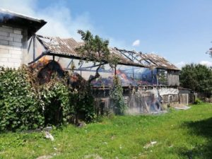 Incendiu intentionat Moldoveni