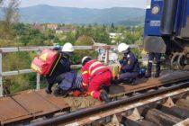 Exercițiu ISU Neamț: Accident feroviar pe un pod de cale ferată