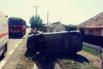Accident rutier între două autoturisme pe raza localității Cordun