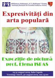 Afis expozitie de pictura Ispas 2019