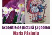 Mamă și fiică, expoziție de pictură și goblen la Biblioteca Județeană