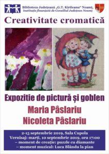 Afis expozitie de pictura goblen Paslariu