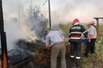 Incendiu la o fânărie din comuna Botești provocat de niște copii