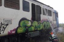 Locomotiva trenului care mergea de la Piatra Neamț la Bacău a luat foc