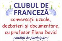 """""""Clubul de franceză"""" revine la Biblioteca Județeană"""