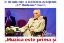 Întâlnire cu Eugen Doga la Biblioteca Județeană Neamț