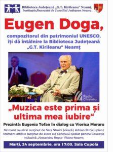 Eugen Doga la Biblioteca Judeteana Neamt