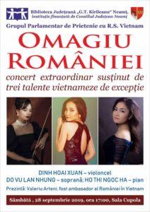 Concert artiste vietnameze biblioteca judeteana