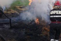 Incendiu în satul Valea Arini provocat de niște copii care s-au jucat cu focul