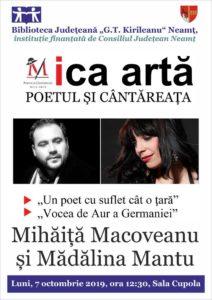 Recital Poetul si Cantareata oct 2019