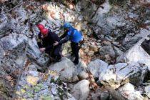 Exercițiu de salvare a unor turiști de către jandarmii montani