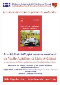Lansare carte Vasile Avadanei