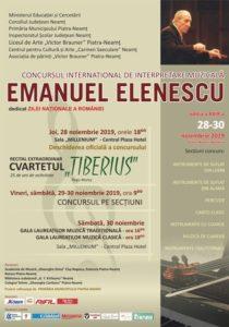 Concurs international Emanuel Elenescu 2019