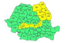 Atenționare meteorologică de ninsori și viscol valabilă pentru județul Neamț