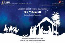 Concert coral în deschiderea evenimentelor dedicate Crăciunului